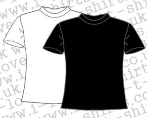 Ladies I love T-shirts sizes