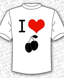 I Love Plums white T-shirt