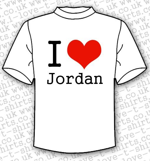 I Love Jordan T-shirt 1
