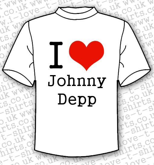 I Love Johnny Depp T-shirt 1