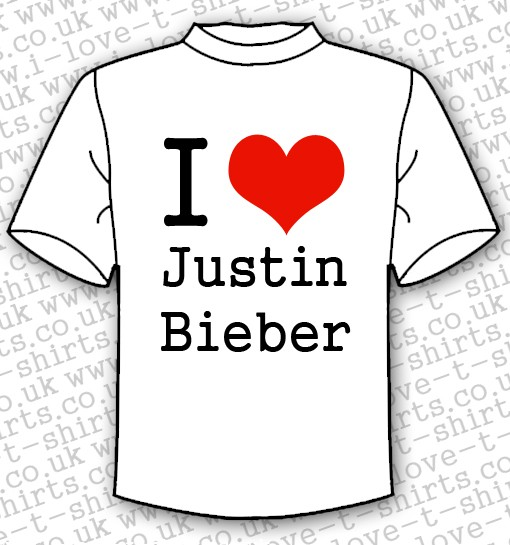 I Love Justin Bieber T-shirt 1