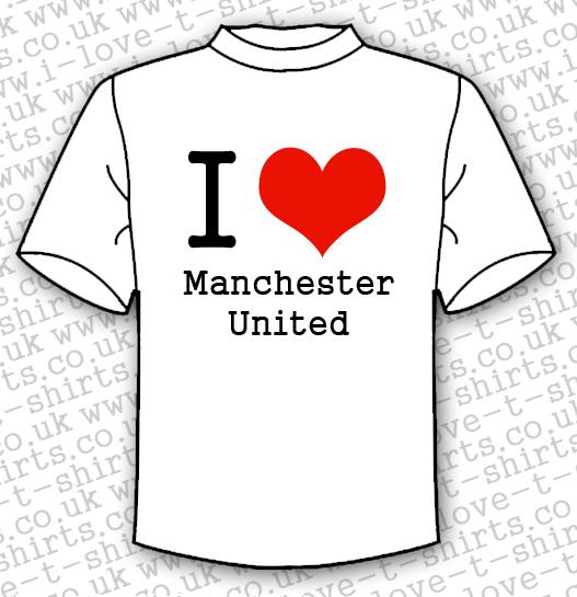 78309678 I Love Manchester United T-shirt - I Love T-shirts