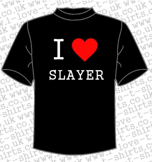 I love Slayer T-shirt 1