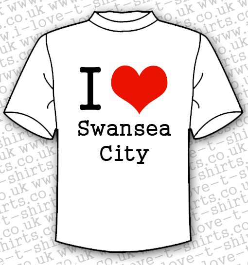 I Love Swansea City T-shirt 1