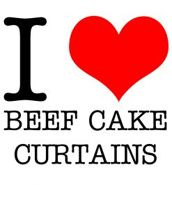 I Love Beef Cake Curtains T-shirt