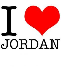 I Love Jordan T-shirt