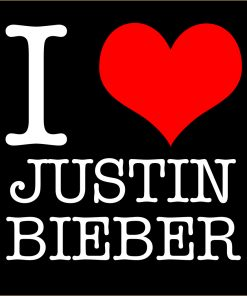 I Love Justin Bieber T-shirt