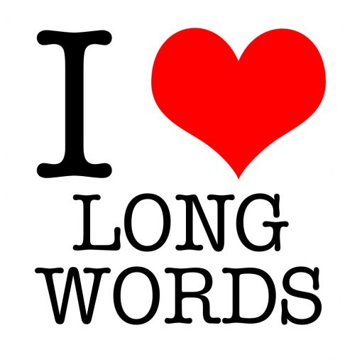 I Love Long Words T-shirt