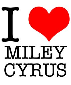 I Love Miley Cyrus T-shirt
