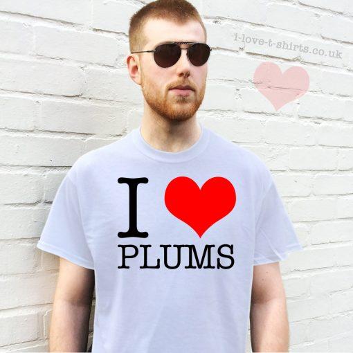 I Love Plums T-shirt