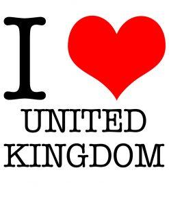 I Love United Kingdom T-shirt